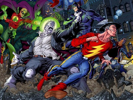 Justice Society vs Solomon Grundy - jsa, heroes, dc, comics, villain, solomon grundy
