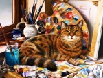 Painter's Cat