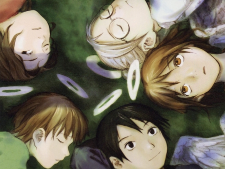 Well Always Be Together Haibane Renmei Anime Background