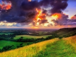 England, West Sussex Sunset