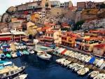 wonderful boat harbor in town