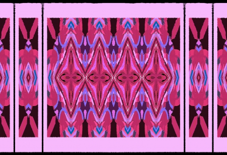 Decorative border - border, 3D and CG, decorative, decorative pink border, abstract, pink