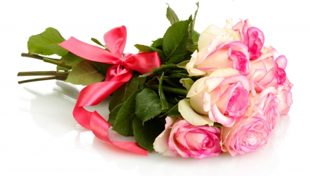 Roses - bouquet, rose, petals, roses, pink roses