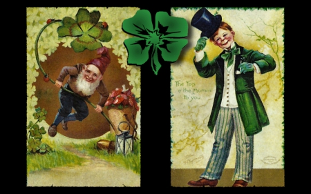 Top O' The Mornin' F1 - art, Saint Patricks Day, holiday, Irish, illustration, artwork, painting, wide screen, occasion