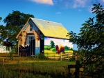 wonderful painted barn