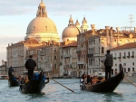 gondolas on the grand canal in venice
