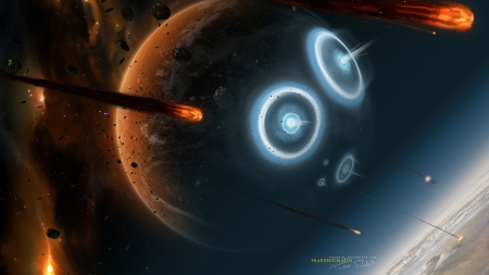 Praedestinatio - planets, impacts, galaxies, asteroids, space