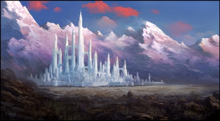 Minas Tirith Fantasy Abstract Background Wallpapers On