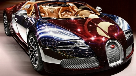 fabulous bugatti veyron hdr - cabrio, car, hdr, reflection, mirrored