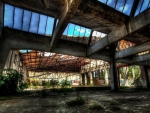 abandoned derelict building hdr