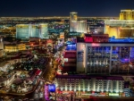 wonderful view of the vegas strip at night hdr