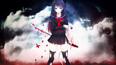 Cute anime girl abstract other anime background - Abstract anime girl ...