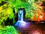 colourfull waterfall , taken in London