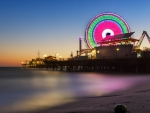 wonderful santa monica pier at twilight hdr