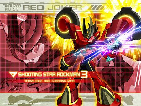 Megaman Starforce 3: Red Joker - joker, megaman, 3, shooting, star, red, starforce, rockman