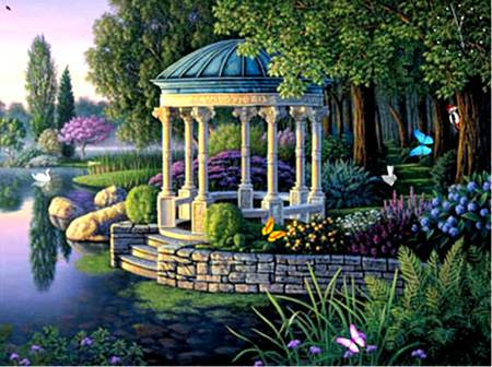 Fantasy Garden Fantasy Abstract Background Wallpapers On