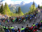 giro d'italia bike race over the alps