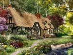 Thatch-roofed Cottage F5mp