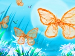 Artistic butterfly