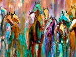 Abstract Horse Herd f2