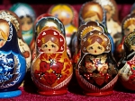colored matryoshka russian dolls