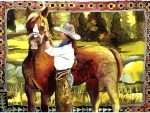Cowgirl and her Horse 1