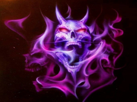 purple skull - 3D and CG & Abstract Background Wallpapers ...