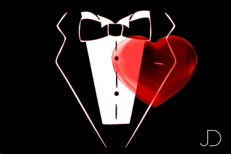 Dressed Love - emotions, shirt, suit, dressed, tux, tuxedo, love, heart