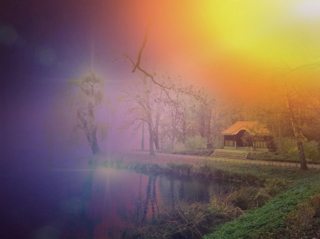 psychedelic View - View, warm, Colour, Dream