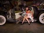 Pinup Girl with Rat Rod