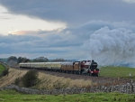 wonderful steam train in british countryside