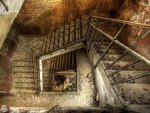 abandoned stairwell hdr