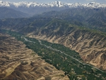 hindu kush fields among the mountains hdr
