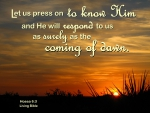 Press On to Know Him