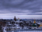 moscow on a dreary winter day hdr