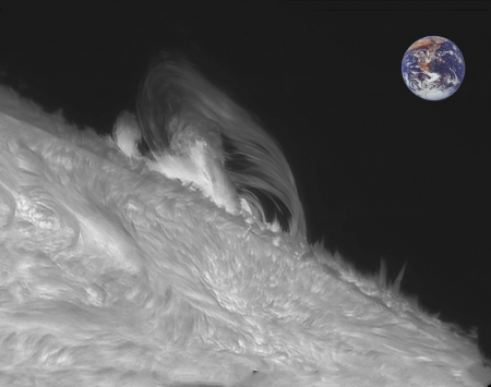 Sun and Prominence - fun, sun, star, cool, planet, space