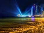 amazing seaside cityscape of doha hdr