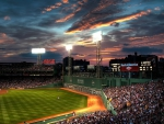 iconic fenway park in boston at twilight hdr