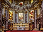 ornate berlin cathedral interior hdr