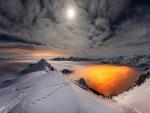 Sun on Snow Mountain