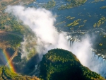 aerial view of majestic victoria falls