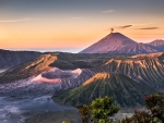 mount bromo volcano in indonesia hdr