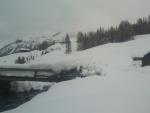 river good time in snow alps... ...