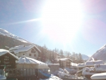 sunshine good time in italian alps for sport in snow... ...