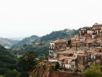hillside town of grotteria in italy