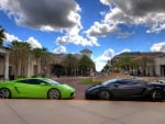 black and green lamborghini gallardos