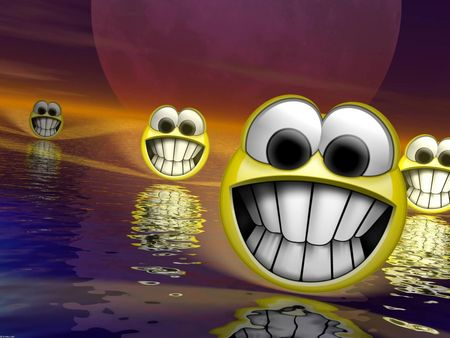 Huge 3d Smiley Faces - smile, huge 3d smily face, smiley