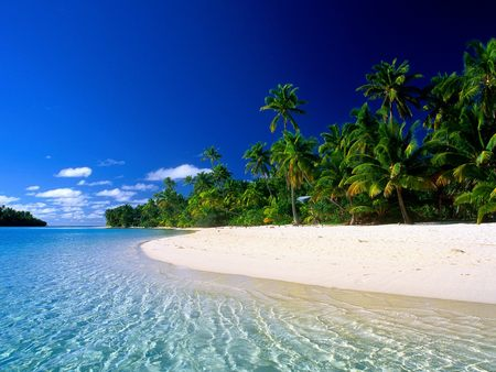 Beautiful Beach - beautiful, beautiful beach, ocean, white sand, clear sky, beach