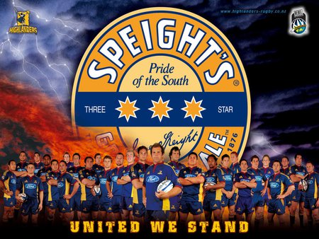 Speights Pride Of The South Highlanders Rugby Sports Background