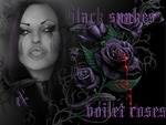 black snakes and voilet roses